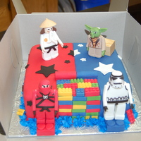 Lego, Half Ninjago & Half Star Wars   The birthday boy couldn't decide between the two Lego themes so we went with both - half Ninjago, half Star Wars