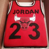 Jordan Jersey Cake Michael Jordan themed birthday cake