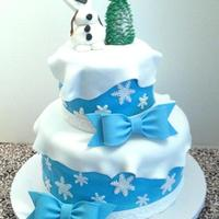Frozen Birthday Cake Frozen/Olaf themed birthday cake for twin girls for Icing Smiles