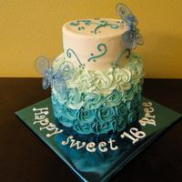 Teal Ombre Cake *