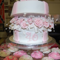 """pink Delight"" Hat Box Cake"