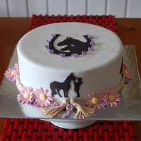 Horse Silhouette Cake Done For A Sweet Girl Who Loves Her Horses Choc Mudcake Covered In Fondant Silhouettes Hand Cut Flowers Rope And Horse silhouette cake done for a sweet girl who loves her horses. Choc mudcake covered in fondant. silhouettes hand cut, flowers, rope and...