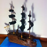 Pirate Ship Cake I made this Pirate Ship cake for my boys 8th birthday party.