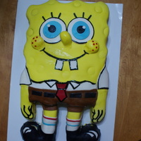 Spongebob Square Pants   fondant cake decorated with jellyfish cupcakes.