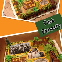Duck Dynasty From the Duck Dynasty weekly series, swamp theme birthday cake for boys or guys. All buttercream icing and pictures are scanned on edible...