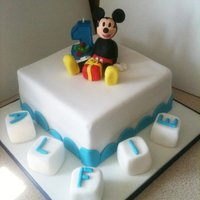 1St Birthday Mickey Cake