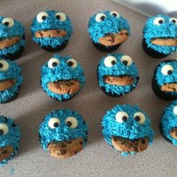 Cookie Monster Style Cakes