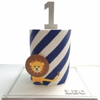 Leo Is One!   Cake design based on the invitation.
