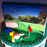 Finance And Golf This cake was made for a Chief Financial Officer who's team works very hard all day while he counts money in the morning and golfs in...