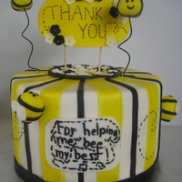 Bee Cake For Teacher