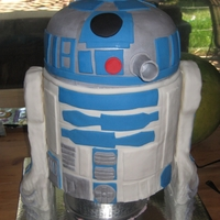3D R2D2 3 tier cake I made for my sons' birthday party.
