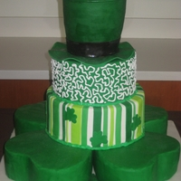 St. Patrick's Day Wedding Cake Irish themed cake for a St. Patick's Day wedding :) Based on a pic the couple found (don't know where) with some changes--like...
