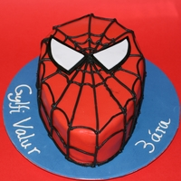 Spiderman Cake  I got a request for a spiderman cake, so I went with the classic Spiderman face and the name on the side. The black buttercream is from...