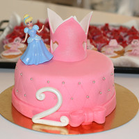 Princess Cake This cake was made for a friend of mine. She sent me a picture of a cake she found and wanted something similar. I used pink mmf for the...