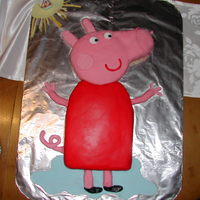 Peppa Pig Cake! This was the 3rd cake i ever made, for my daughters birthday party.