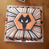 Nephews 11Th Birthday Cake. Nephews 11th birthday cake, avid WOLVERHAMPTON WANDERERS fan! Cake is a sponge, little disappointed as the fondant was so dry but worked ok...