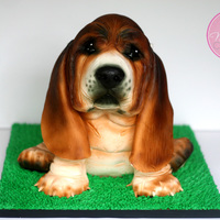 Basset Hound Puppy Cake You can see work in progress pics, and read some tips about how I made this puppy cake in my latest blog post found on my website. (Can&#...