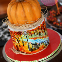 All Cake With Hand Painted Scene In Airbrush Food Colors all cake, with hand painted scene in airbrush food colors.