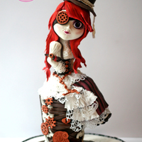Steampunk Doll Cake see my steampunk doll blog on my website (listed in my profile) to see detailed photos and work in progress pictures of this cake.