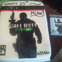 Call Of Duty Mw3 Cake