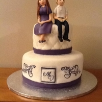 Wedding Rehearsal Wedding Cake Bride And Groom Topper This cake was made for the Bride and Groom's rehearsal party. The groom wanted me to do their wedding cake, but the bride wasn't...