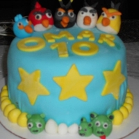 Angry Birds Cake I made this cake for my nephew's 10th birthday. This was the first time I made MMF, and it came out pretty good. I was chocolate cake...