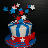 4Th Of July Birthday This was inspired/lifted from several beautiful cakes on CC. Thanks for looking!