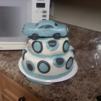 Car Cake The car is rice krispy treats