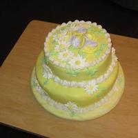 Springtime I made this cake to practice with fondant. I shared it with the workers where I go for physical therapy for my back. They loved it.