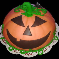 "Halloween Pumpkin Cake  Swedish ""Princess cake"" (torte)Multiple layered genoise cake with pureed rasberrys, vanilla custard pastry cream and topped with..."