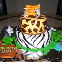 Animal Jam Cake My niece wanted an Animal Jam cake. It's an online game with alot of different animals. This is what I came up with. When she told me...