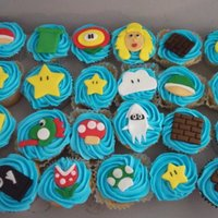 Mario Brothers Cupcakes 24 cupcakes with Mario Brother designs