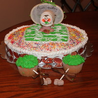 Tail Gate Party Baby Shower For Farther To Be Was difficult to decide on what to make for a father to be baby shower cake. Created a football stadium cake with an effect where the baby...