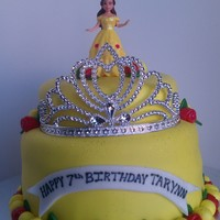 Belle Birthday Cake   This cake was for a little girl who loves Beauty and the Beast!
