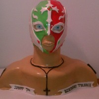 Rey Mysterio Cake I got this idea from several members of the site and the internet. My son loves Rey Mysterio! He lived the cake!
