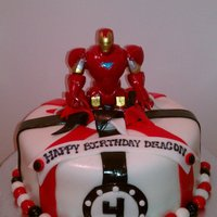 Iron Man Cake This was for a 4 year who loves Iron Man!