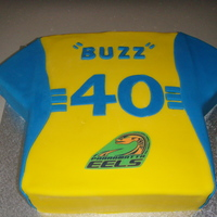 Parramatta Eels Cake This was my first themed cake ever. It was for my husbands brothers 40th birthday. It is just a vanilla pound cake with butter cream...