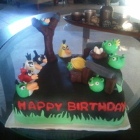 Angray Birds Cake This cake is Chocolate with oreo buttercream filling, all decorations are made with fondant and gumpaste. Angry birds characters are half...