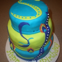Peacock Feather B-Day Cake