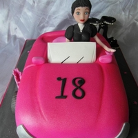 18Th Car Birthday Cake   18th car birthday cake with a pair of shoes ,take a peek at my other cakes on facebook. by angelpie cakes
