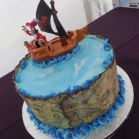 Pirate Groom's Cake Pirate Groom's Cake. The map edging is an edible image applied to fondant with Crisco. I was able to manipulate the edges after...