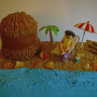 Queen Of The Beach   Retirement cake. All hand made fondant and gumpaste