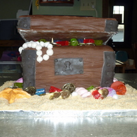 "Treasure Chest My 5-year-old requested a ""jewel cake"" for her birthday, and she also loves the ocean, so we decided on a pirate's treasure..."