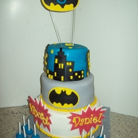 Batman Cake This was a birthday cake for twin boys who are allergic to nuts and eggs. The chocolate cake recipe was from this site and I found a...