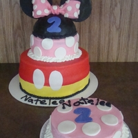Mickey & Minnie Mouse Birthday Cake
