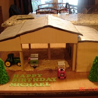 """the Barn"" My friends must sit around and think....what can we have her do next??? This one wanted a replica of the barn that they love. The top and..."
