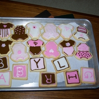 Baby Shower Cookies My first attempt at decorated cookies.