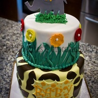 Baby Elephant Baby Shower Cake Baby elephant baby shower cake