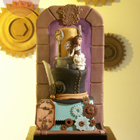 Steampunk Vineyard Wedding Cake Thanks Cake Central for featuring my work! over the moon!!!!