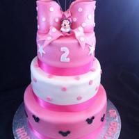 Minnie Mouse This is my first 3 tier cake